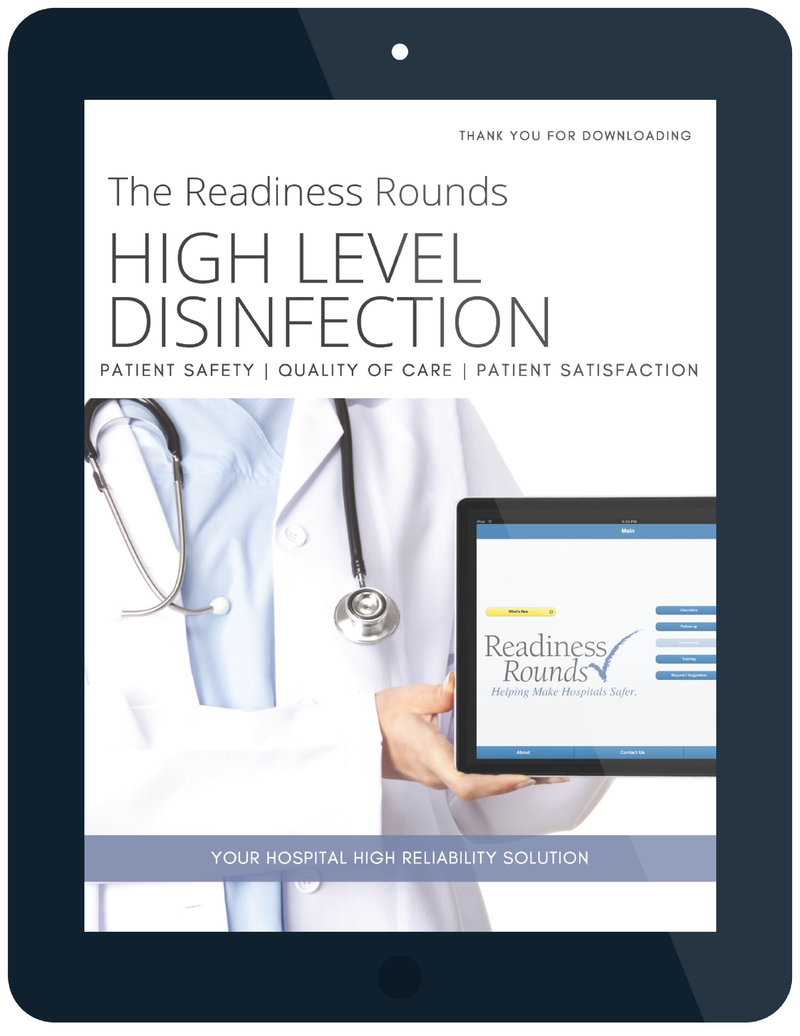 readiness rounds high level disinfection