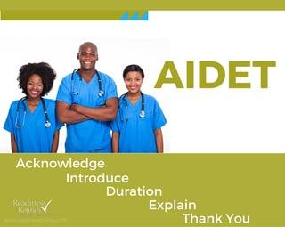 AIDET patient satisfaction