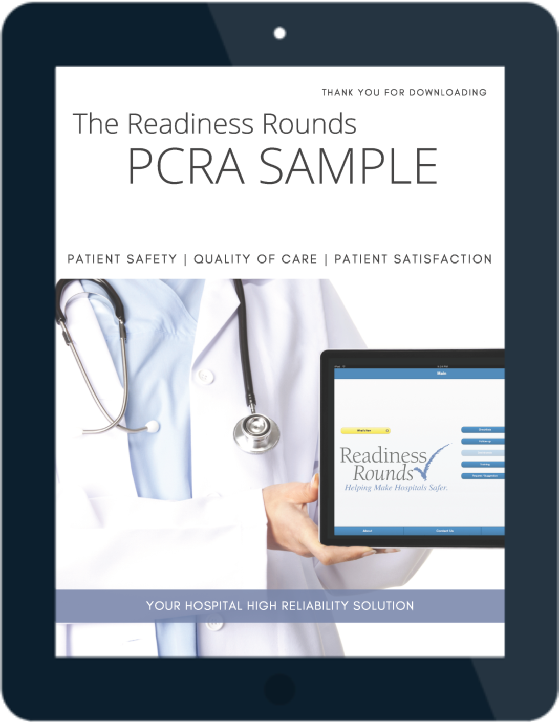 Readiness Rounds PCRA Sample - iPad-Cover Page