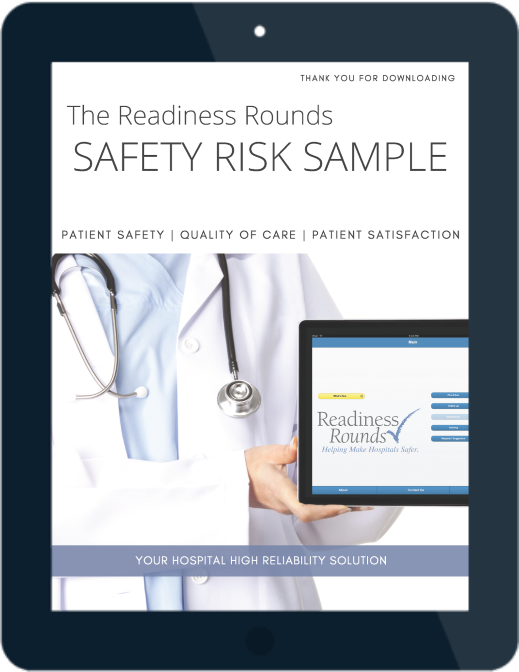 Readiness Rounds Safety Risk Sample - iPad-Cover Page-1