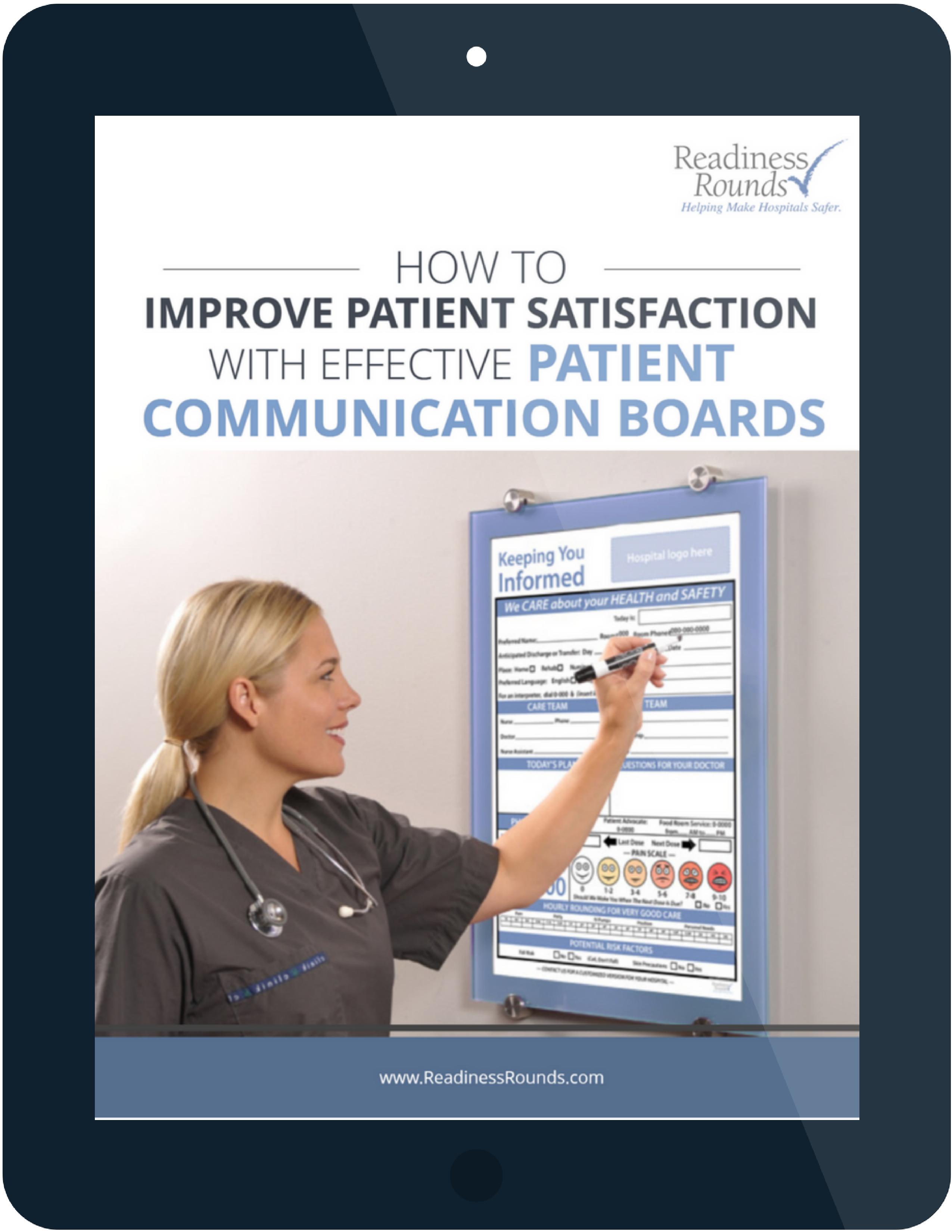 communication board patient satisfaction