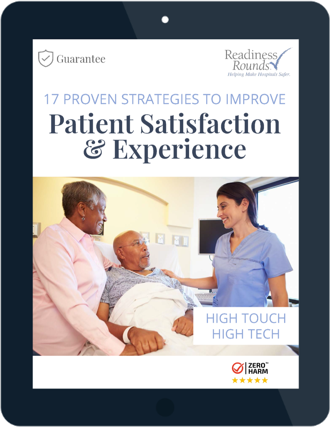 COVER-iPad_17 Proven Strategies to Improve Patient Satisfaction and Experience eBook_v2