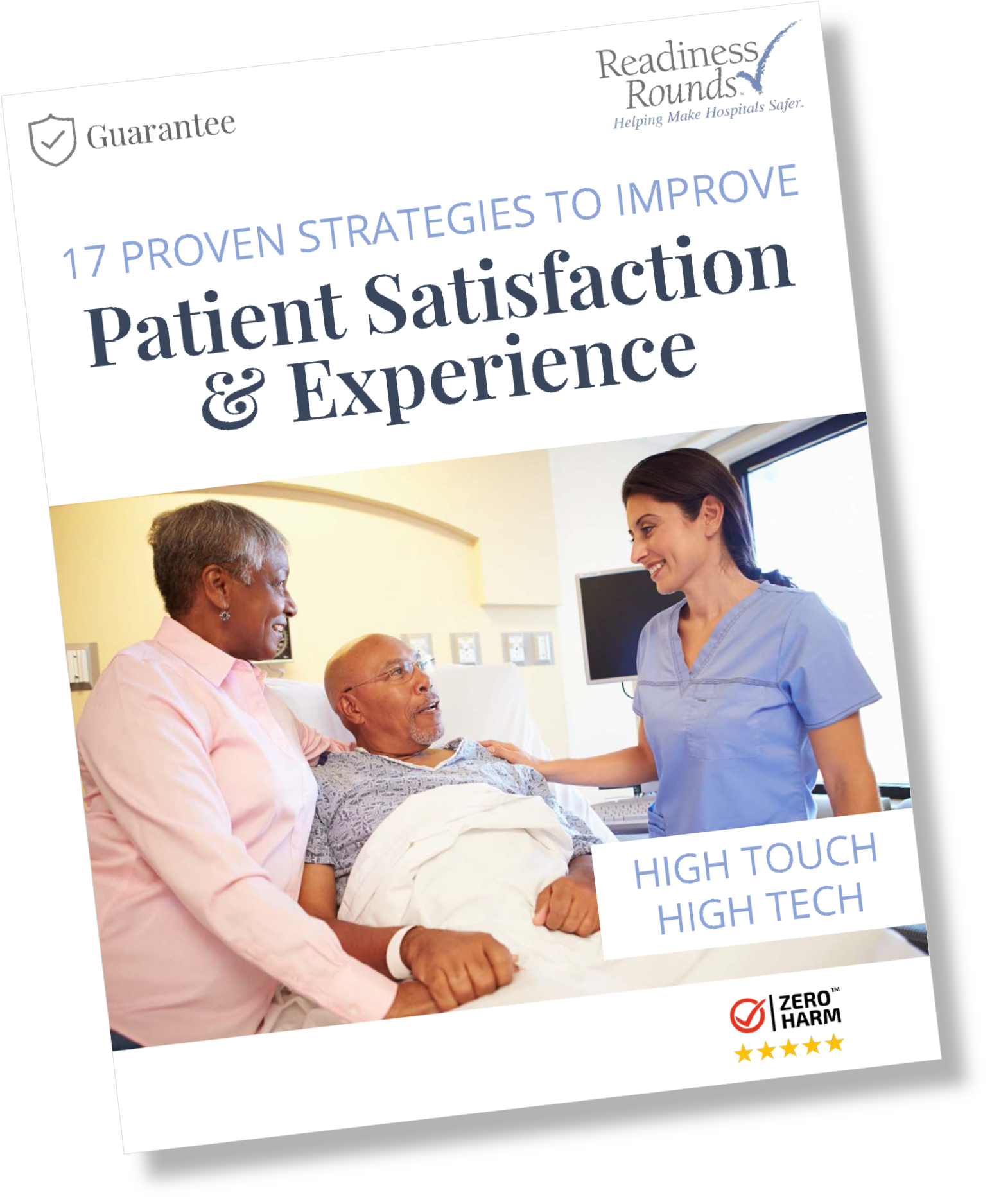 17 Proven Strategies to Improve Patient Satisfaction and Experience eBook Cover Page